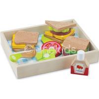 New Classic Toys Sandwich Sæt med Bakke 18pcs