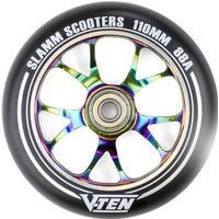 Slamm V-Ten II 110mm Sparkcykel Hjul Komplett (110mm - Neochrome)