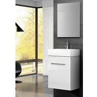 Alterna Lita – Møbelpakke, komplet pakke med 450 mm underskab, vask og spejl, hvid