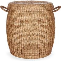 Water Hyacinth Oval Basket with Lid
