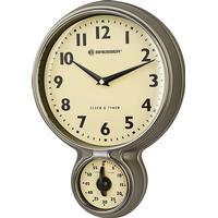 Bresser MyTime Retro Kitchen Clock & Timer Väggklocka