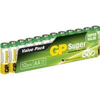 GP Batteries 15A AA LR6 Super 12-pack