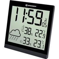 Bresser TemeoTrend JC LCD Weather 19.1cm Väggklocka