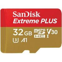 SanDisk Extreme Plus microSDHC UHS-I U3 V30 A1 95/90MB/s 32GB +Adapter