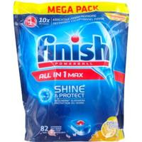 Finish Powerball All-In-One Max Lemon Dishwashing Tablets 82-pack