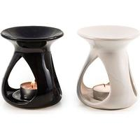 Pajoma Keramik Duftlampe ''Timeless'' 2er Set, schwarz & weiß