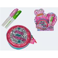 Simba Color Me Mine Round Purse Glitter Couture 2 Pens