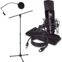 LD Systems Podcast 2 Microfonset 3 Tillbehör Pop filter, Golvstativ