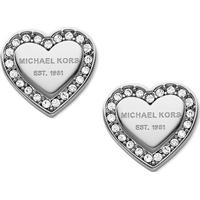 Michael Kors Pave Stainless Steel Earrings w. Transparent Cubic Zirconium (MKJ3966)