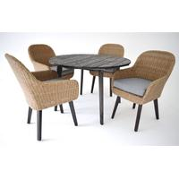 Skånska Möbelhuset Matgrupp Coco: Bord inklusive 4 st Rainbow stolar