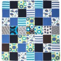 Katvig Tæppe - blå nuancer i genbrugs bomuld