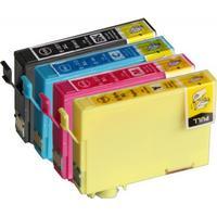 Fri frakt Epson T1816 +XL Set (T1811, T1812, T1813, T1814) BK/C/M/Y. Kompatibla bläckpatroner (ej Epson original). Epson 18XL. Fri frakt.