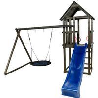 Plus Spielturm mit Schaukelanbau Schaukeln und Rutsche 185273-15