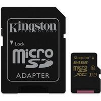 Kingston MicroSDXC UHS-I U3 90/45MBs 64GB