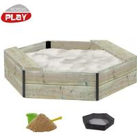 Nordic Play Sandbox 6edged with Seats 500 kg of Certified Sand 805708