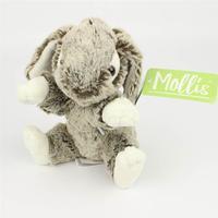Molli toys kanin bamse i grå