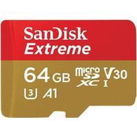 SanDisk Extreme MicroSDXC V30 A1 UHS-I U3 64GB +Adapter