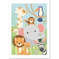 Studio Circus Savannen plakat 50x70cm