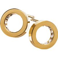 Edblad Monaco Mini Stainless Steel Gold Plated Earrings w. Transparent Cubic Zirconia (2173084)