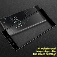 Sony Xperia XA1 IMAK Full-size Hærdet Glas Skærmbeskyttelse - Sort