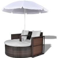 vidaXL 40734 Duosoffa Loungegrupp