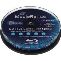 MediaRange BD-R 25GB 4x Spindle 10-Pack Wide Inkjet