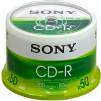 Sony CD-R 700MB 48x Spindle 50-Pack