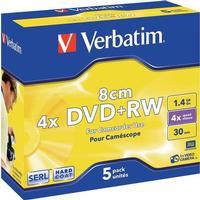 Verbatim DVD+RW 1.4GB 4x Jewelcase 5-Pack 8cm