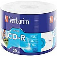 Verbatim CD-R 700MB 52x Spindle 50-Pack