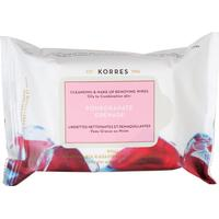 Korres Pomegranate Cleansing & Make-Up Removing Wipes 25-pack