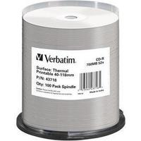 Verbatim CD-R No ID Brand 700MB 52x Spindle 100-Pack Thermal