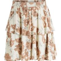 Y.A.S Ruffle A-shaped Floral Printed Mini Skirt Beige/Oatmeal (26006696)