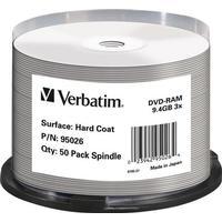 Verbatim DVD-RAM 9.4GB 3x Spindle 50-Pack