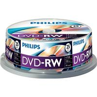 Philips DVD-RW 4.7GB 4x Spindle 25-Pack