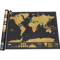 Scratch World Map Travel Deluxe Edition 42x29.7cm Affisch
