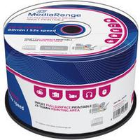 MediaRange CD-R 700MB 52X Spindle 50-Pack Wide inkjet