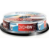 Philips DVD+RW 4.7GB 4x Spindle 10-Pack