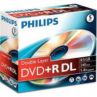 Philips DVD+R 8.5GB 8x Jewelcase 5-Pack