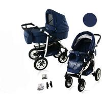 Bavario White 2 in 1 barnvagn (Välj färg:: B5)