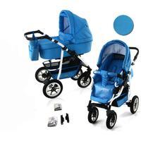Bavario White 2 in 1 barnvagn (Välj färg:: B2)