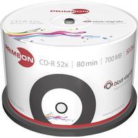 Primeon CD-R 700MB 52x Spindle 50-Pack Inkjet