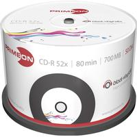 Primeon CD-R 700MB 52x Spindle 50-Pack Inkjet