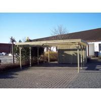 Dobbeltcarport model Bonn med redskabsrum