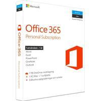 Microsoft Office 365 Personal För 1 PC/Mac + 1 surfplatta. 1 TB OneDrive. Svensk