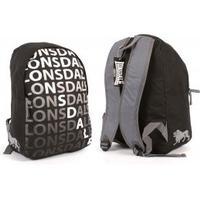 Lonsdale ryggsäck - svart med tryck
