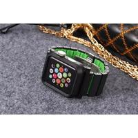 Apple Watch 42 mm Lunatik Epik med Aluminiumarmband - Svart/Grön