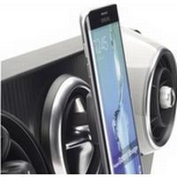 Herbert Richter 22111301, Mobiltelefon / smartphone, Bil, Svart, Akrylnitrilbutadienstyren (ABS), Termoplastisk elastomer (TPE), Magnetic mount,Car vent mount, 360