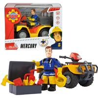 Simba Fireman Sam Vehicle Quad Bike Mercury with Character Sam