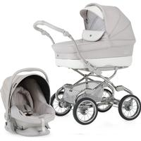 Bebecar Pack Stylo XL + Car Seat - Chrome Topogrey / Feather Grey