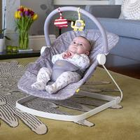 Bababing Float Baby Bouncer - Grey/White